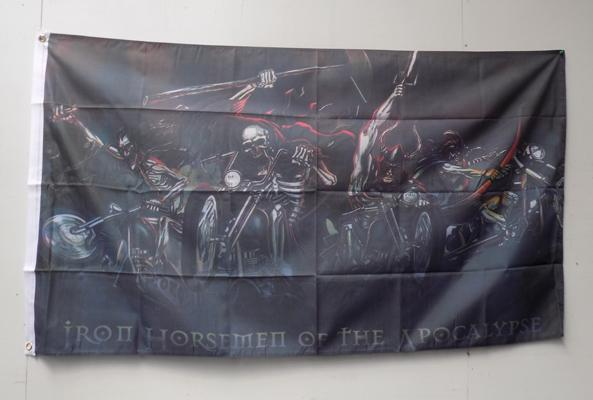 5' x 3' Iron of the horseman flag
