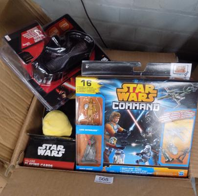 Box of new Star Wars toys