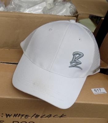 Approx 25 Baseball caps-white