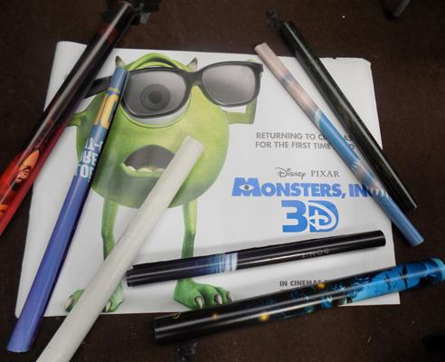 10x Film posters (Kick ass, Monsters inc