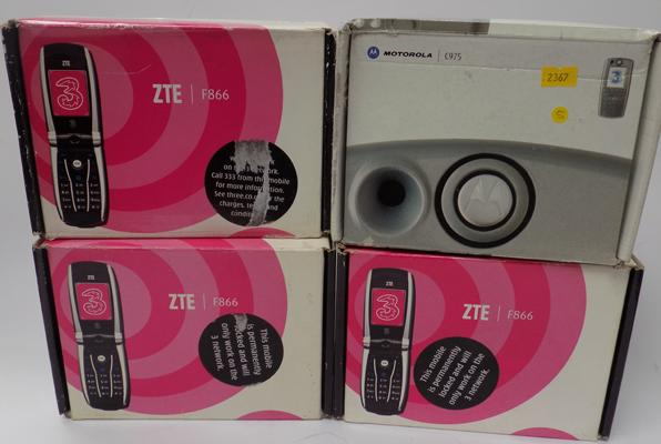4 Boxed mobile phones