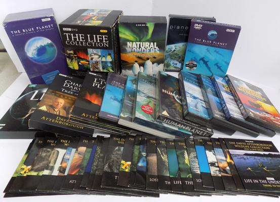 Large selection of David Attenborough nature DVDs, Life on Earth, Frozen Planet etc...