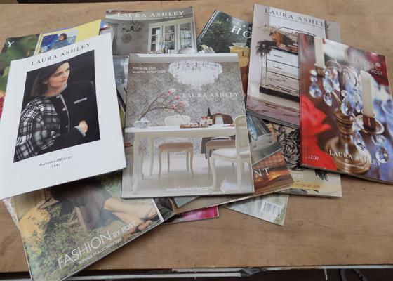 Box of Laura Ashley books & catalogues