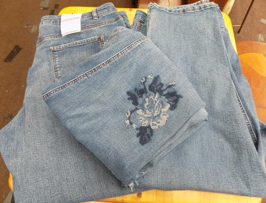 3x Pairs of 'new' denim jeans-size 20-womens