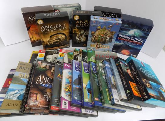 Selection of nature & ancient documentaries DVDs/books