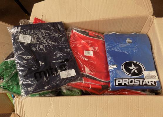 Box of Pro-Star clothes