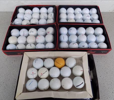 Selection of used golf balls