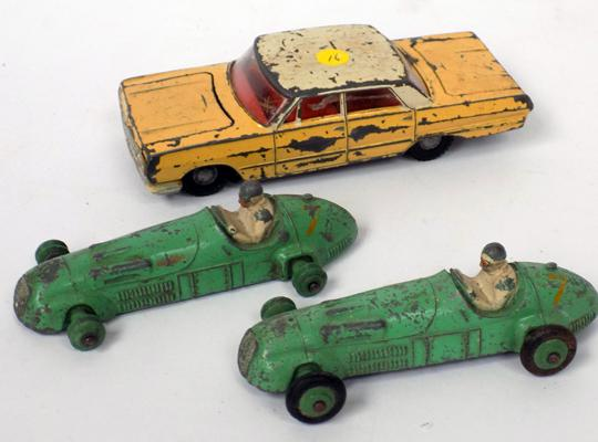 3-1950's Dinky cars-original condition
