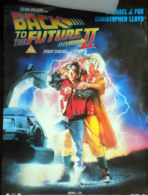 'Back to the Future' film posters x 2, sliced down the middle