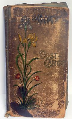 Old postcard album (early 1900's) many cards from Canada