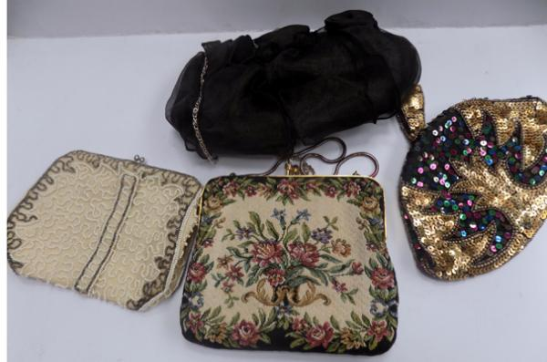 4 vintage evening bags