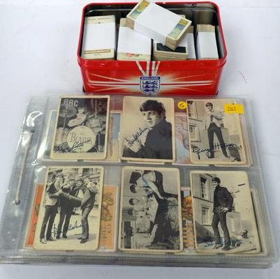 Album and tin of cigarette cards