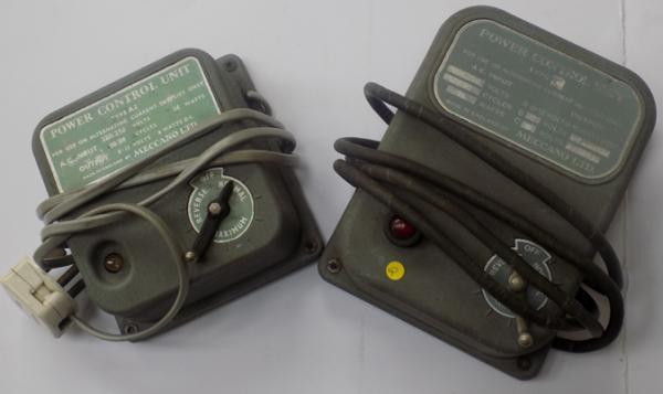 Two train track controllers (one without plug)