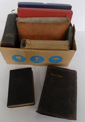 Selection of vintage bibles & books