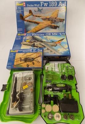 Revell kits -  electric drill & airbrush kit