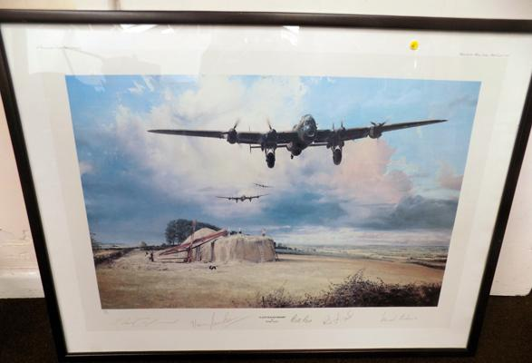 'Last Flight Home' by Robert Taylor 360/850, signed by four legendary members