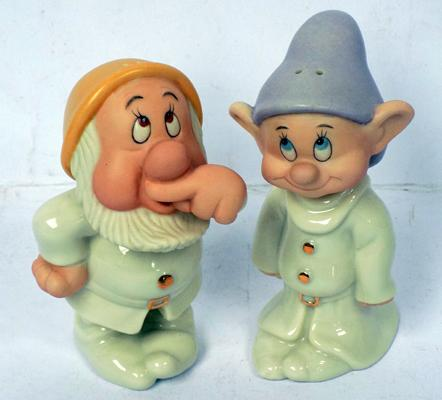 Disney salt and pepper 'Sneezy and Dopey'