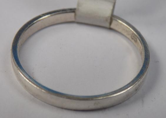 925 silver band size P