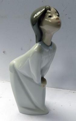 Lladro figurine 'Kissing Goodnight' 4873 perfect - no chips, scratches or cracks