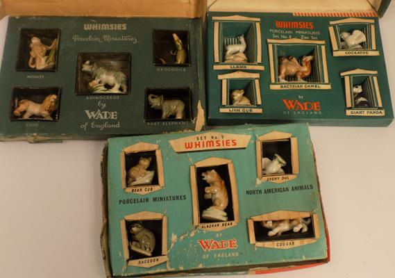 3x boxed sets of Wade Whimsies