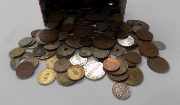 Selection of mixed coins