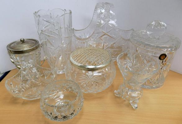 Selection of cut glass and crystal
