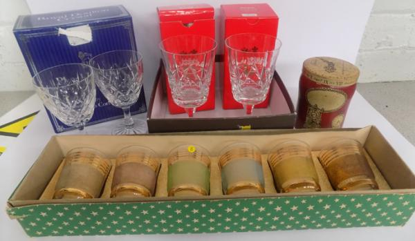 Selection of crystal & glasses, incl. Royal Doulton