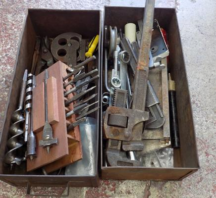 Two trays of tools