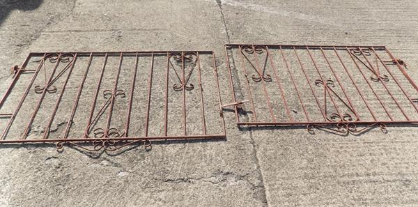 "Pair of driveway gates, each approx. 58"" x 36"""