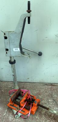 Pillar drill stand and vice