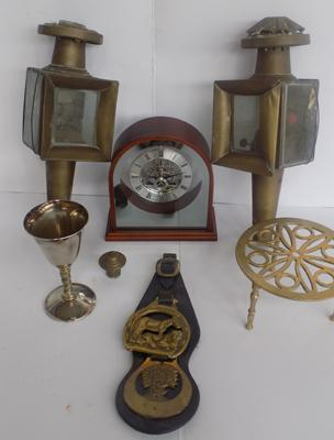 Selection of collectables, incl. coach lamps