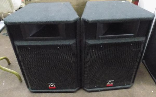 Pair of boxed Wharfedale pro speakers EVP-515 w/o