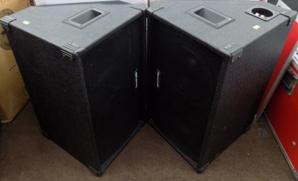 Pair of boxed sound lab speakers P115CH w/o