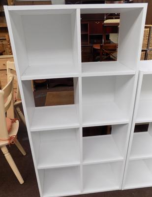 8 Cube storage unit in white
