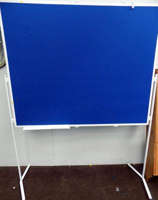 "Extra large freestanding notice board - 77"" x 60"" approx."