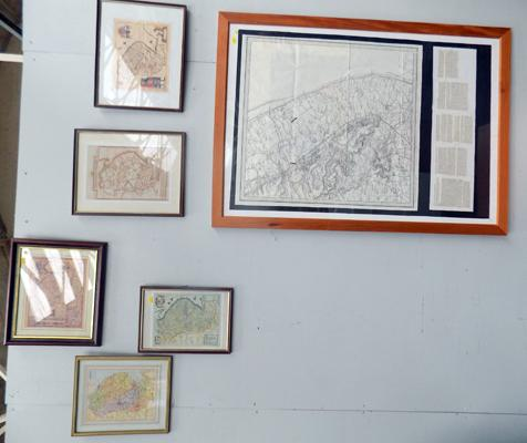 Selection of 5 framed maps of Lincolnshire and a large map of Lincolnshire- sheet 30, Loath & Patchinson - 1st march 1824 copy