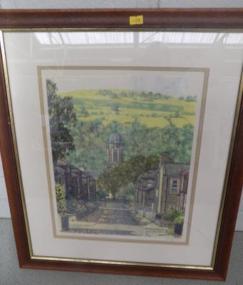 Framed picture of George Street, Saltaire - by Radcliffe