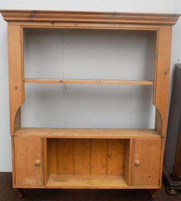 Farmhouse pine hanging wall unit - 4 1/2 foot