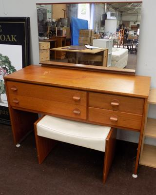 Vintage Stag mirrored dressing table + stool