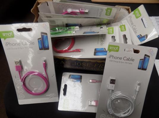 Box of IPhone cables
