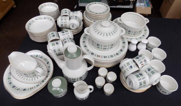 Large collection of Royal Doulton Tapestry dinnerware