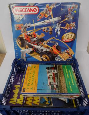 Meccano motion system 9550 complete/ spares and USA model maker magazines
