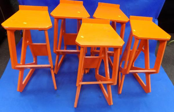 5x handmade stools - last 5 in circulation - made for mountain hardware stand TV programme