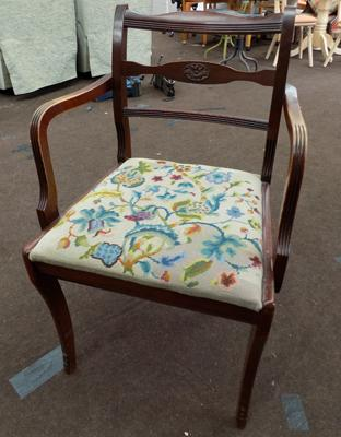 Vintage tapestry seated chair