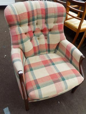 Recovered Parker Knoll armchair
