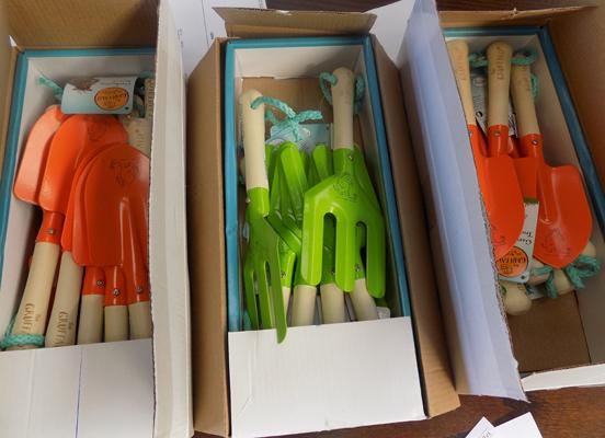 Three boxes of children's Brier's Gruffalo hand tools