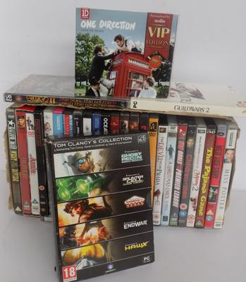 Selection of DVDs + PC Games + One Direction CD