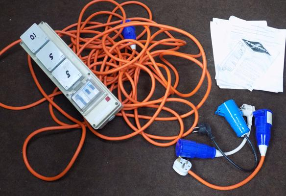 Electric Hook-Up, suitable for camping/caravanning, etc...