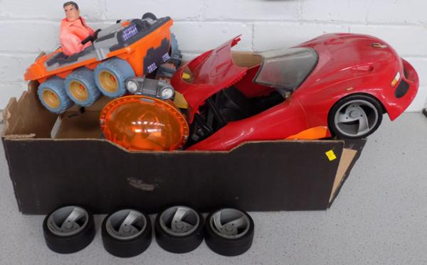 Box of Action men vehicles