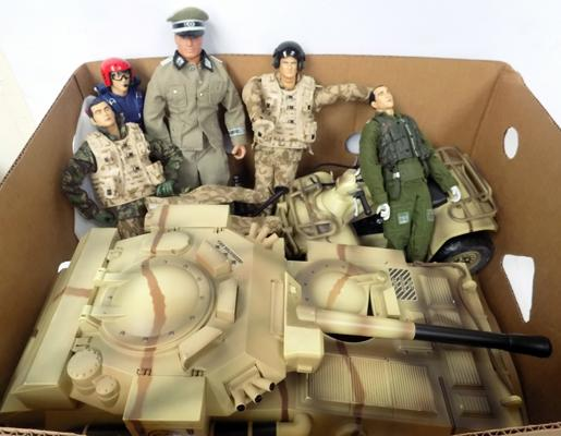 Armed Forces figures and vehicles